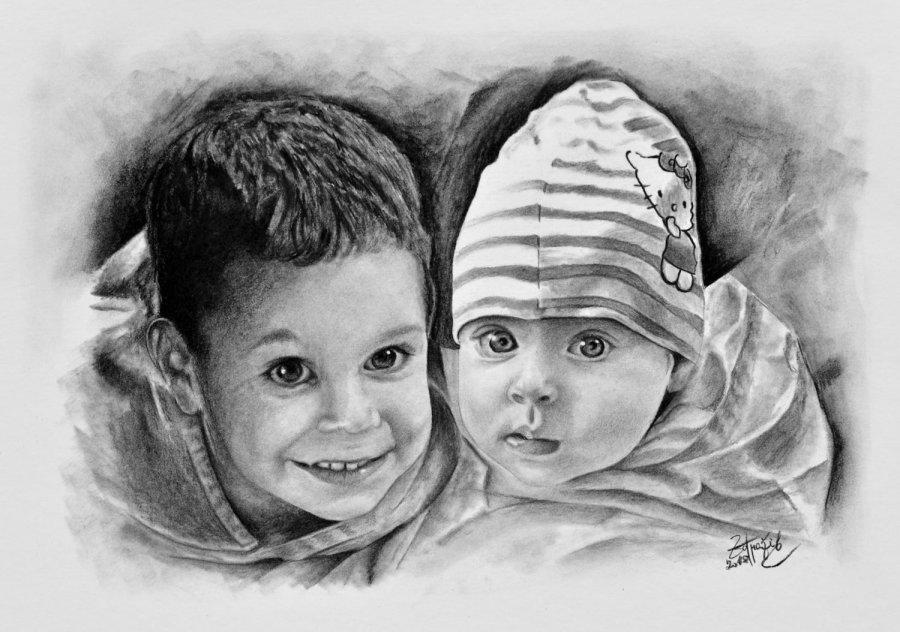 Kresba Deti Od Radek Zdrazil Portret Ceska Tvorba