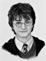 Kresba uhlem Harry Potter